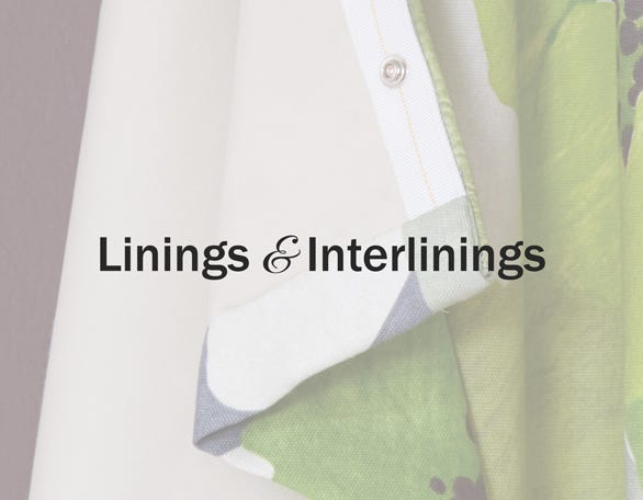 Whyte & Ivory Linings & Interlinings